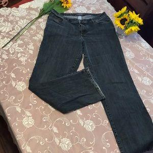 Venezia Faded Black Jeans, Stretch Boot Cut